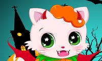 Online free browser game: Halloween Kitty Cat
