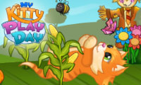 Online free browser game: My Kitty Play Day