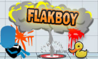 Online free browser game: Flakboy: Reboot