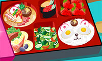 Online free browser game: Sushi Box Decoration
