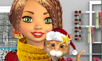 Online free browser game: Avie: Christmas Style