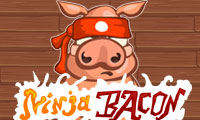Online free browser game: Ninja Bacon
