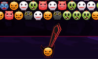 Online free browser game: Bubble Hit: Halloween