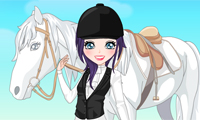Online free browser game: Girl and Horse Dress Up