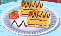 Online free browser game: Sara\\\'s Cooking Class: Napoleon Pastries