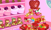 Online free browser game: Valentine\\\'s Store Decoration