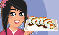 Online free browser game: Dragon Roll Sushi