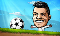 Online free browser game: Puppet Soccer Champions