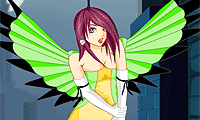 Online free browser game: Anime Angel Dress Up