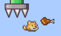 Online free browser game: Flappy Doge