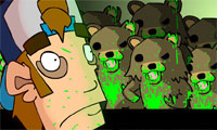 Online free browser game: ZomBears
