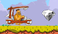 Online free browser game: Stone Age Car Adventure