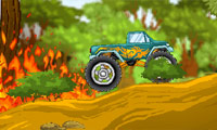 Online free browser game: Monster Truck vs. Forest