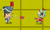 Online free browser game: Napoleon vs Zombies