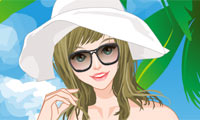 Online free browser game: Swimming Pool Girl Dress Up