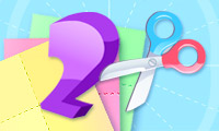Online free browser game: Paper Cutting 2