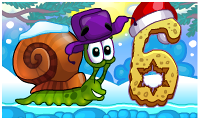 Online free browser game: Snail Bob 6: Winter Story