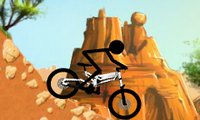 Online free browser game: Stickman Downhill