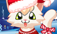 Online free browser game: A Kitty Christmas