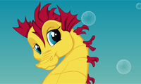 Online free browser game: Seahorse Dress Up