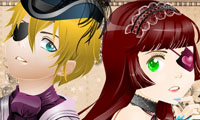 Online free browser game: French Victorian Dress-Up Game
