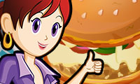 Online free browser game: Pizza Burgers: Sara\\\'s Cooking Class