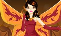 Online free browser game: Fairy of Fire Dress Up