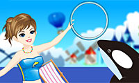 Online free browser game: Oceanpark Trainer Dress Up