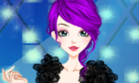Online free browser game: Black Style Dresses Girl