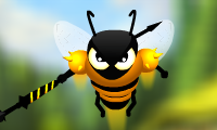Online free browser game: Angry Bees