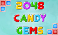 Play 2048 Candy Gems