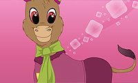 Online free browser game: Donkey Dress Up