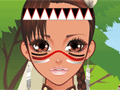 Mohican Girl Make-Up