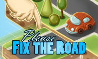 Online free browser game: Please fix the road