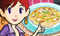 Online free browser game: Chicken Fettuccine: Sara\\\'s Cooking Class