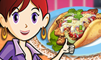 Online free browser game: Gyros: Sara\\\'s Cooking Class