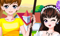 Online free browser game: Romantic Spring Couple