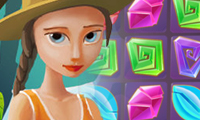 Online free browser game: Mysterious Jewels