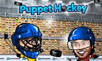 Online free browser game: Puppet Ice Hockey