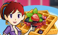 Online free browser game: French Waffles: Sara\\\'s Cooking Class