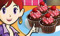 Online free browser game: Chocolate Cupcakes: Sara\\\'s Cooking Class