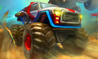 Online free browser game: Monster Wheels 2