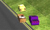 Démolis et détruis tout sur ton passage, niveau après niveau, dans cette course de kart délirante !