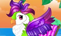 Le plumage de ce perroquet exotique est idéal pour une séance photographique !