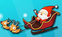 Même le Père-Noël doit s'accommoder de la circulation dense des vacances !