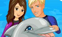 Sautez à travers les cerceaux, mes dauphins chéris !