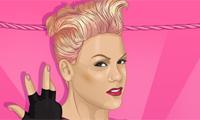 Jolie en rose et punk à la fois ?